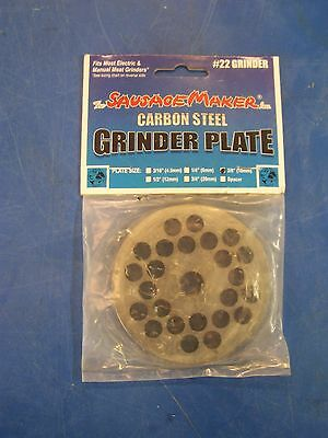 New #22 Carbon Steel Plate W/3/8' Hole Meat Sausage Grinder Chopper