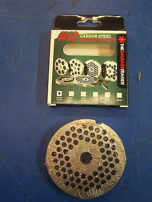 """New #10/12 Carbon Steel Plate W/3/16"""" Holes Meat Sausage Grinder Chopper"""