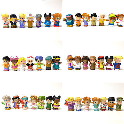 """Random Lot 10pcs Fisher Price Little People 2.0"""" Figures Baby Kid Child Toy Gift"""