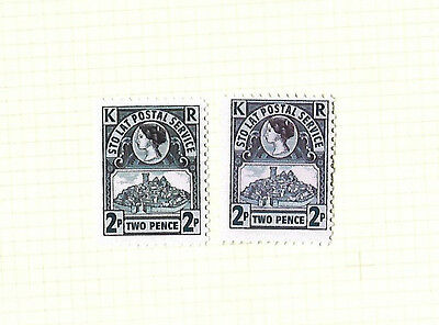 Discworld Stamp 2009 Pair of Sto Lat 2p Blue Rare Retired Color Tone Variation