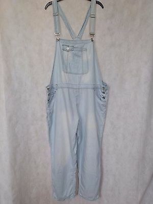 R68 Womens Denim Co Light Blue Overalls Cotton Dungarees Uk 20 W44 L28