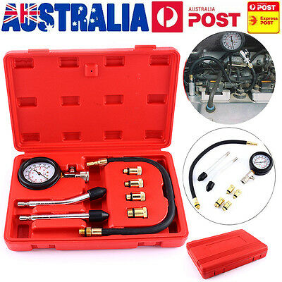 AU Car Cylinder Pressure Compression Meter Petrol Engine Compression Tester Kit