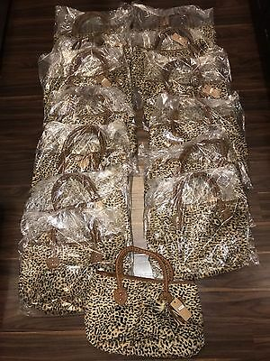 14 Fur Leopard Cheetah Print Purse Wholesale Lot   All Brand New With Tags