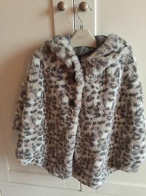 Girls Next Animal Print Hooded Poncho. Age 3-4. BNWOT