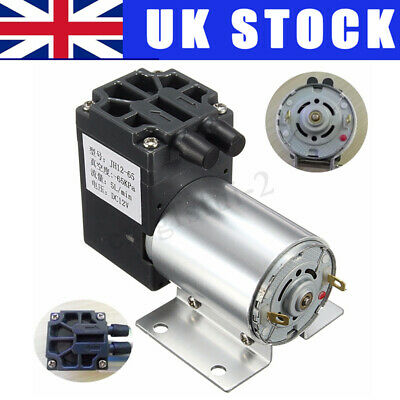 UK DC 12V 65-120kpa Mini Vacuum Pump Negative Pressure Suction Micro-pump 5L/min