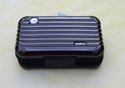 RIMOWA Lufthansa 1st Class  A 380 Amenity Kit dark brown color ( chocolate )