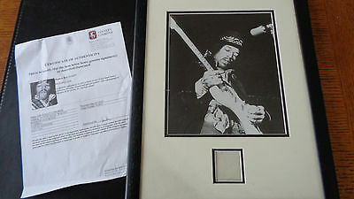 Jimi Hendrix A Very Rare Piece Of Jimis Hair Framed And Displayed With Coa