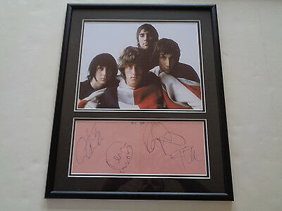 The Who Autograph / Signed Display With Keith Moon A Large 1960S Set