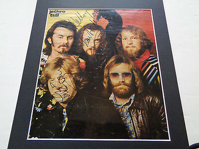 Jethro Tull Autograph Signed German Magazine Page  ..great Autograph 1975/76