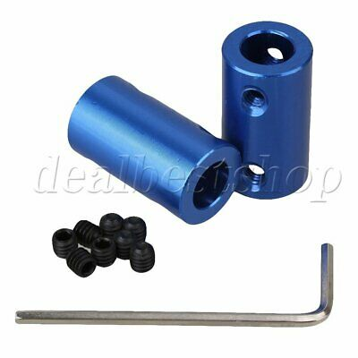 2pcs 8 x 8mm Shaft Rigid Motor Wheel Coupling Coupler Aluminum Casing + Screws