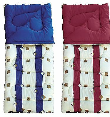 4 Season Single Sleeping Bag 50oz or 60oz in Burgundy or Blue Royal Umbria