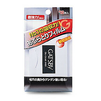 [GATSBY] Oil Clear Charcoal Film Sweat & Oil Blotting Paper 70 Sheets JAPAN NEW