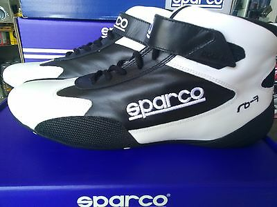 Sparco Cross Shoes 43 White Black Fia 8856-2000 Scarpe Omologate Fia