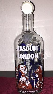 Rare Absolut Vodka Empty 700Ml London Bottle From The Uk A Great Display Bottle