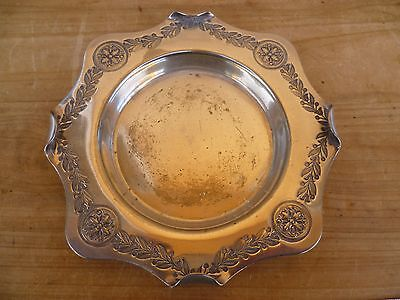 Antique Old Serving, Epns Silver Plate Dish, Plate (D869)