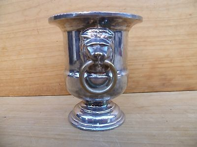 Antique Old Lions Head Silver Plate, Epns Tooth-Pic Holder, Serving Piece (C887)