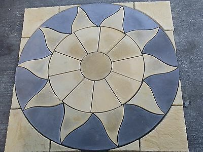 Stone Concrete Aztec Patio Paving Set 1.8m inc Squaring off Kit