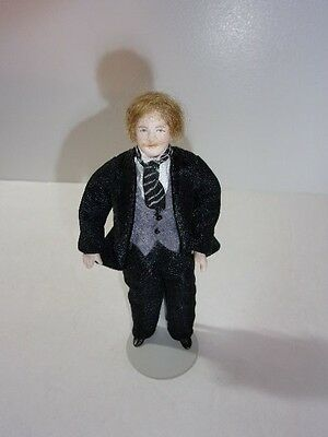 Antique 1900's Male Doll House Doll Germany Bisque Shoulder Cloth Torso   #12