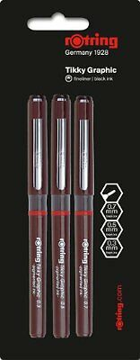 Rotring 1904812 Tikky Graphic Fineliner Pen - Set of 3