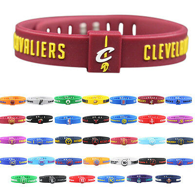 Unisex Basketball Fans Wrist Strap Bracelet Rubber Sports Wristband Adjustable