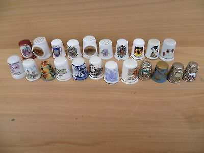 Vintage Old Collection Of China & Metal Thimbles Lot (F284)
