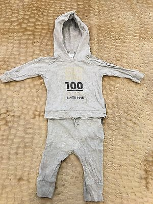 Bonds Grey Baby Tracksuit Size 0 / 6-12 Months