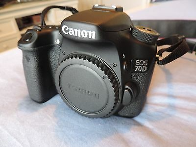 canon 70d eos digital camera dslr body mint very little use