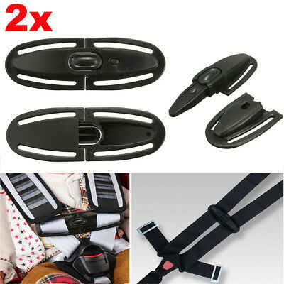 2X Car Baby Safety Seat Strap Belt Harness Chest Clip Child Safe Lock Buckle AU