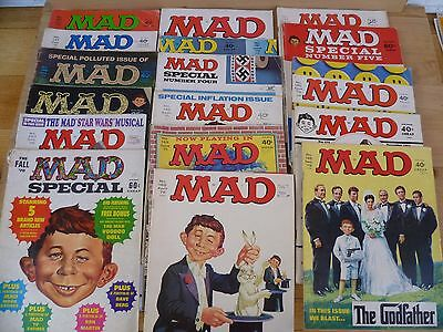 Vintage Old Large Lot Of 'mad Magazines' Old Mad Books Lot 'x18' (F106)
