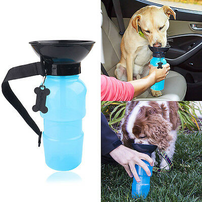 Outdoor Portable Aqua Dog Travel Mug Water Feeder Bottle Special Valve Pet Cat