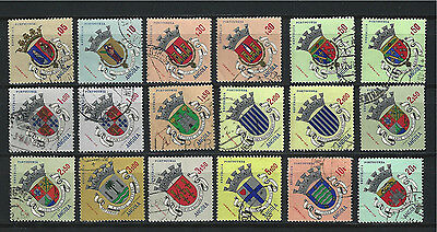 ANGOLA 1963 ,Coats Arms I, used ( Lot of 18) Mi № 449-459, 461,465, not full set