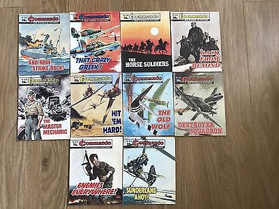 Commando comics x10 - Consecutive No. 2106 - 2115 - VERY good condition