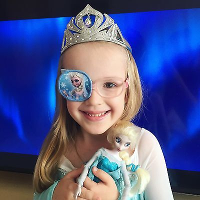 Eye patches on glasses or eyepatch with elastic straps Frozen Elsa Anna Olaf