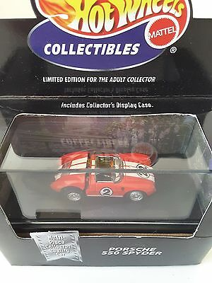 """Hot Wheels """"Cool Collectibles"""" Limited Edition Porsche 550 Spyder."""