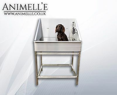 Animelle professional stainless steel dog pet grooming bath tub bathtub home