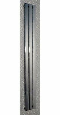 Chrome Designer Radiator - Tall Vertical Flat Panel - unused - collection only