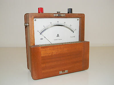 Antico Amperometro Chinaglia Belluno Vintage Wood Ampmeter Made in Italy
