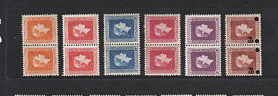 NEW ZEALAND -1940 CENTENARY -PART SET PAIRS -( INCL 9.d RED  ) - MH - CV $A48.00