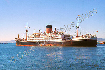 Original Colour Slide Of The Passenger Ship Ceramic -  Last Voyage
