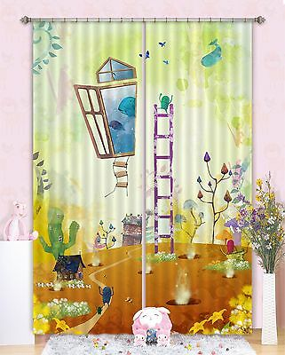 3D Cartoon 716 Blockout Photo Curtain Printing Curtains Drapes Fabric Window CA