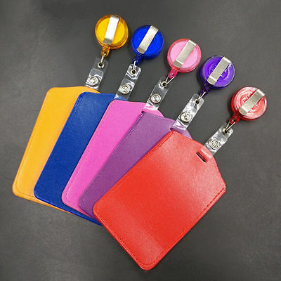ORANGE ID CARD HOLDER & RETRACTABLE LANYARD - Premium Quality - FAST DELIVERY