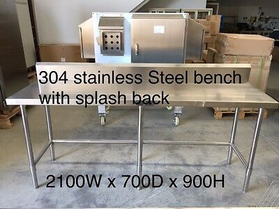 1829x610mm Commercial 304 Stainless Steel Kitchen Work Bench Food Prep Table Top