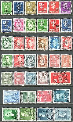Norway Clearance - 36 Used And 1 Mint Stamps - All Different