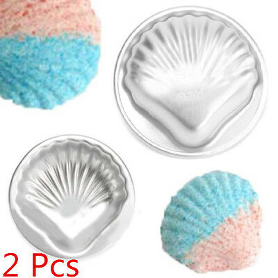 2Pcs Shell Shape Bath Bomb Mold Fizzy Crafting DIY Metal Mould Tool For Crafting