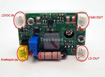 2A  Laser Diode Driver/For 2W-3.5W 450nm Blue Laser Diode w/ TTL slot