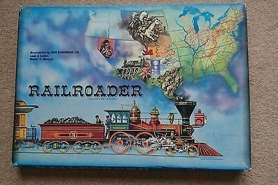 Rare Vintage 1963 Railroader family Board Game by Waddingtons