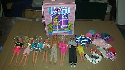 vtg barbie & Ken, case, clothing 1966 & up