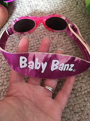 Baby Banz Sunglasses 100% UVA/UVB Protection (Ages 0-2yrs) Pink Diva Camo Case