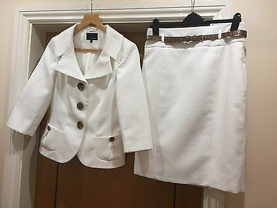 Cream Skirt Suit - Next size 12/14 - perfect for wedding