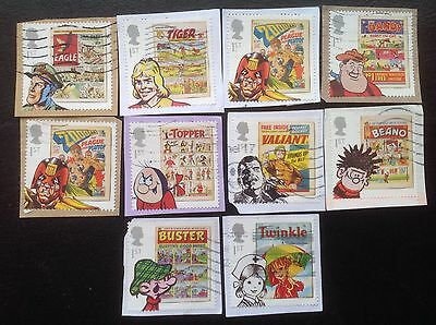 GB STAMPS 2012 Comics Full Set Fine Used. Multi Issue